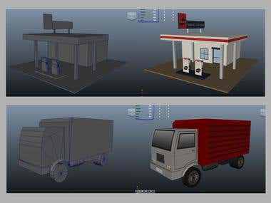 """3D game Props Modelling in very \""""low poly\"""""""