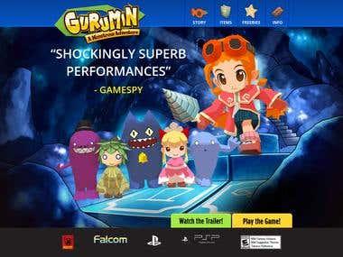Gurumin Game site (WordPress Responsive)