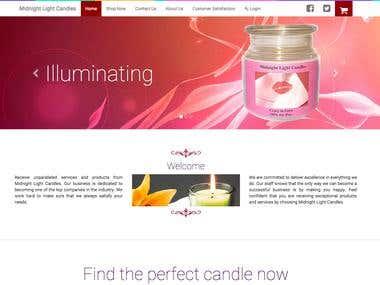 Midnight Light Candle