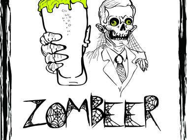 Zombeer beer label