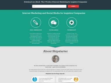 Bootstrap responsive internet marketing site