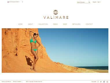 Valimare Website (Wordpress & WooCommerce)