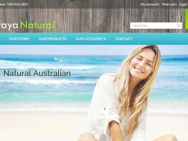 Straya Natural - Ecommerce Website