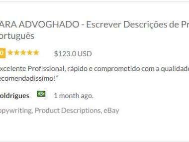 Description of products for e commerce