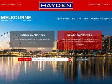 hayden-melbourne.com.au Real Estate Wordpress