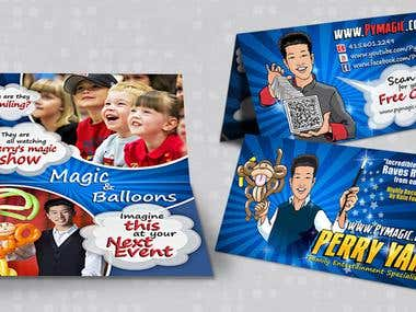 Magician & Balloon Artist Business Card