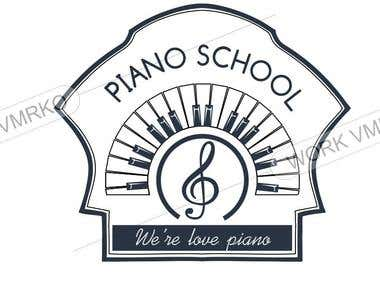 logo for piano school