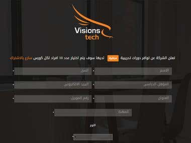 Responsive HTML Page for  Visions Tech Company