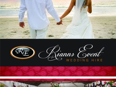 Brochure for Riannas Wedding Event