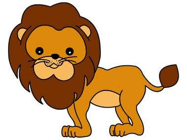 Lion\'s Illustration