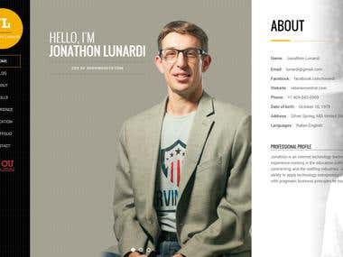 Personal Website for a Regular Client - Jonathon Lunardi