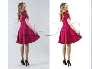 Retouching dresses online store
