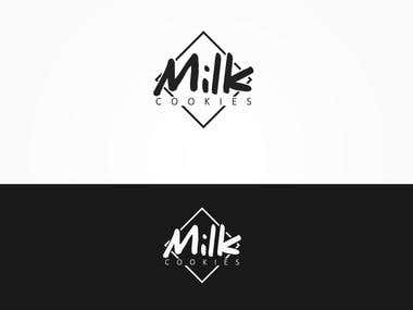 Playful logo for Milk Cookies