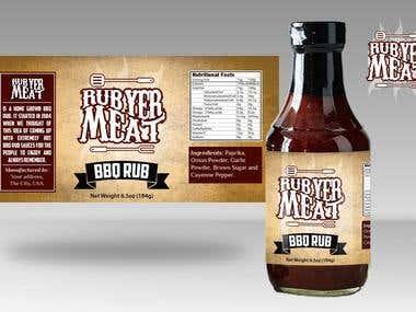 Award Winning Logo + Packaging Design for BBQ