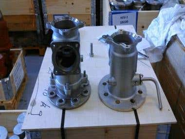 High pressure valve body, old and new ( Scanvent Aps)