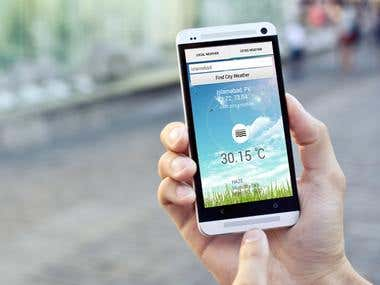 Weather Android App using GPS and Openweather API