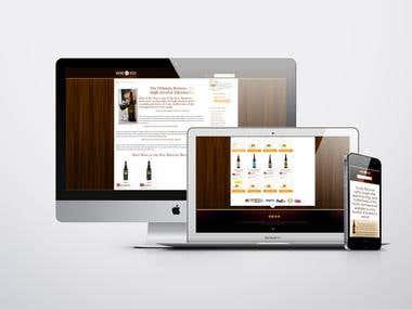 Website designed and developed for Online Beer Store.