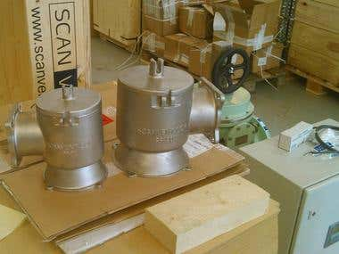 Investment Cast Vacuum Valve (ScanventAps)