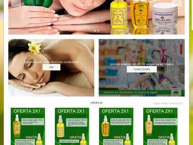Diseño web aceitearganbio.es