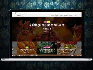 WordPress: TravelIndiaEasily.com (Website Design)