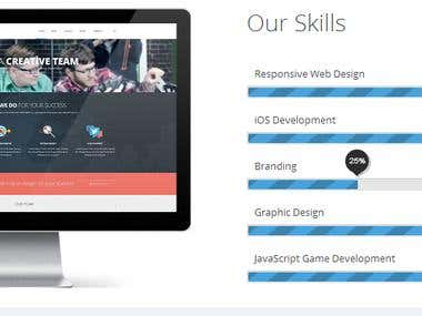 Wordpress Parallax Page Work