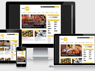 Responsive Wordpress design Work