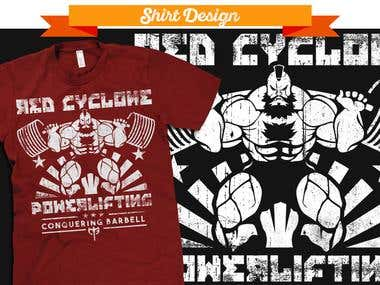 Conquering Barbell Shirt Design