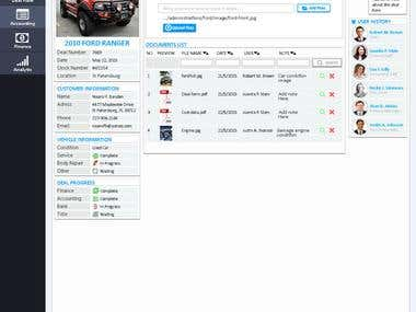 Web Base Automotive Back Office Dashboard