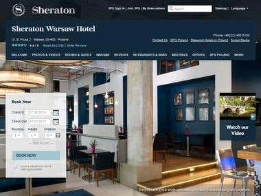 Build a website of www.sheraton.pl