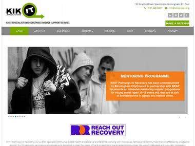 wordpress website for a social service.
