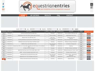 Equestrian Entries - Website