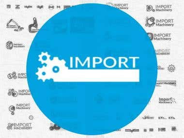 Import Machinery logotype design