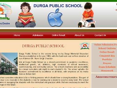 school management website