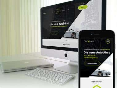 Webdesign for a car selling portal