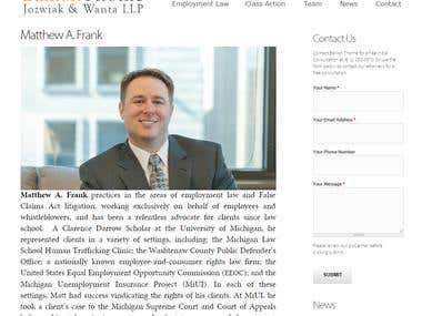 Legal services firm website
