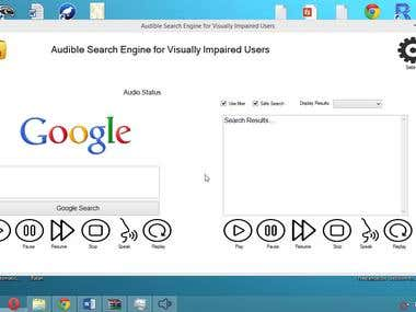 Google Search Engine For Visually Impaired People
