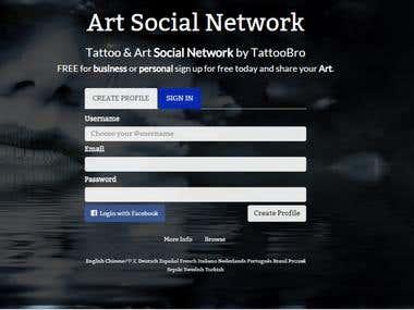 Social media plugin integration on Tattoobro.com