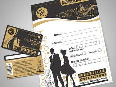 Loyalty Card Design with Membership Form