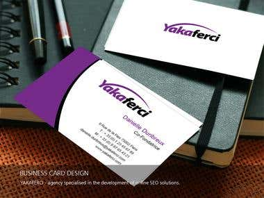 Business card design Yakaferci