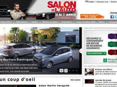 Montreal International Auto Show Website