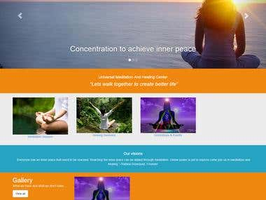 website for meditation and healing center