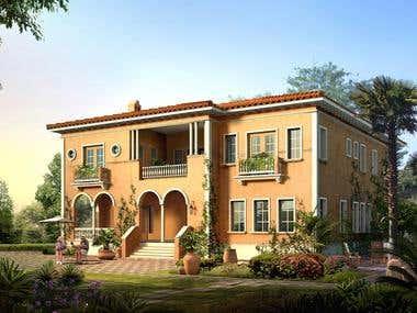 villa with 2 complex details