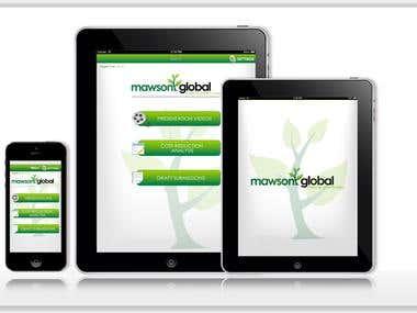 Native IOS app for Mawsonglobal Australia