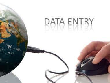 Data antry