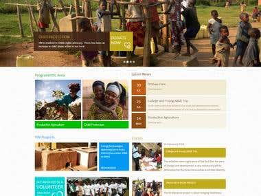 Website for NGO in Africa