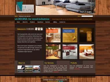 Website for LA-REGINA [wood-industries]