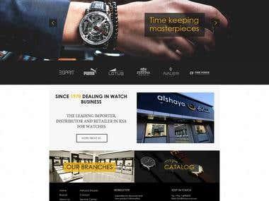 Web design for Saudi watches company