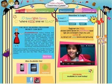 Website For Kids book reading IPhone/IPad App