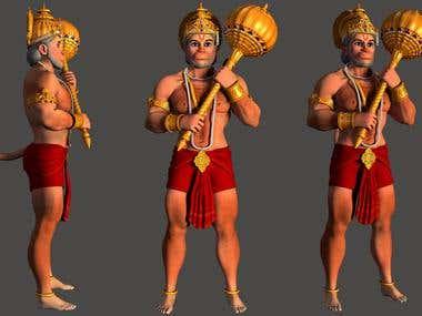 Hanumanji 3D Model