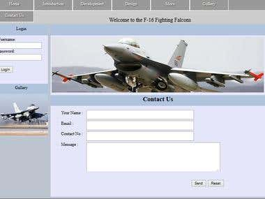 AeroPlanes and Jet Fighters Information system.